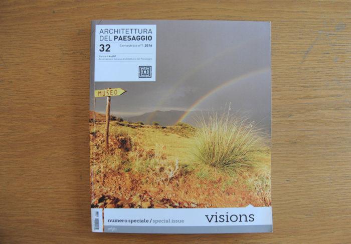 Architettura del paesaggio, n.32, 2016